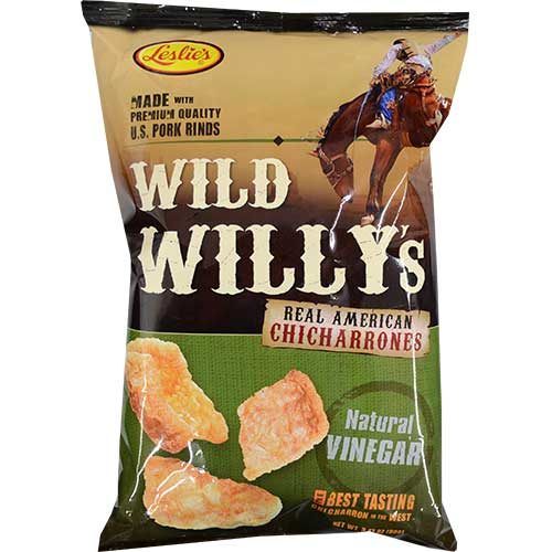 Leslies Wild Willys Chicharon Vinegar 50g