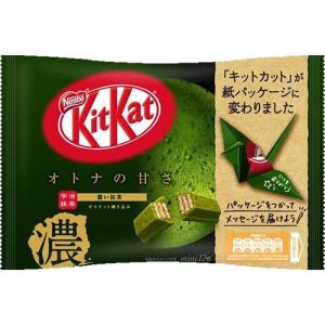 12 Pieces Kitkat Mini Adult Sweetness Dark Green Tea